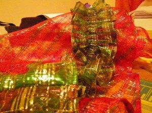 Christmas tree skirt, in progress