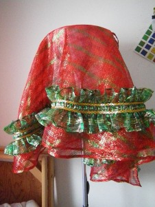 Christmas tree skirt in January